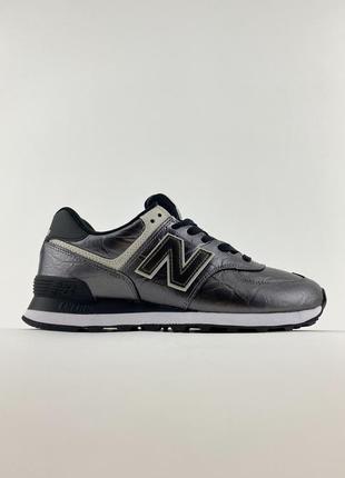 Кроссовки new balance 574 silver leather