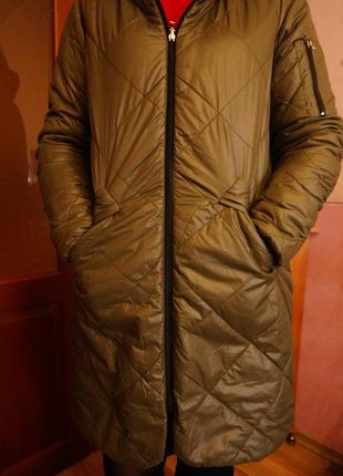 Двусторонняя удлиненная куртка пальто stradivarius р-р м-л