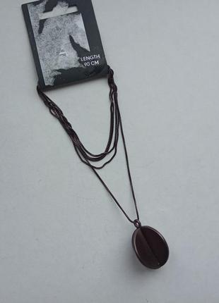 Цепочка с подвеской колье pilgrim с покрытием гематитом 90 см.6 фото