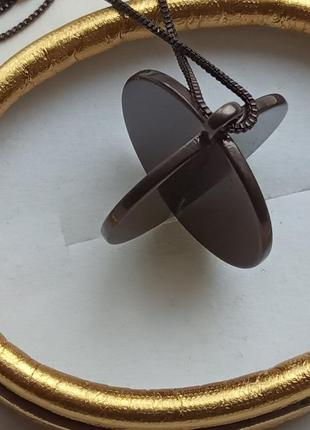 Цепочка с подвеской колье pilgrim с покрытием гематитом 90 см.5 фото