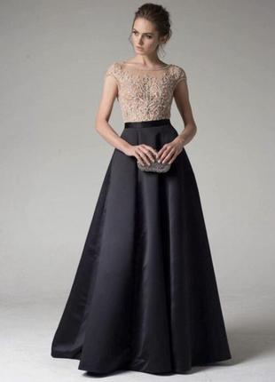 Чёрное выпускное платье dominiss
