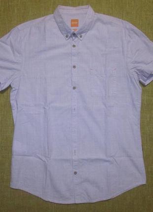 Рубашка тенниска hugo boss orange оригинал slim fit