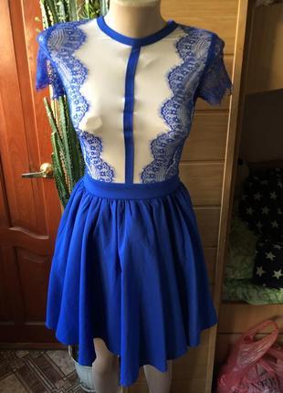 Роскошное платье верх сеточка