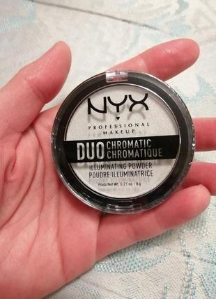 Duo chromatic illuminating powder  хайлайтер для лица белый