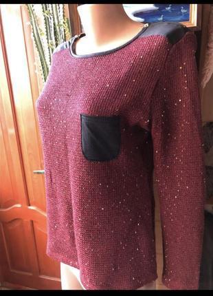 Вязаный классный свитер2 фото