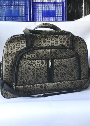 Большая вместительная дорожная сумка туристическая с длинным ремешком через на плече для поездки отпуска чемодан валіза