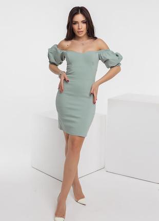 Платье оливковый цвет