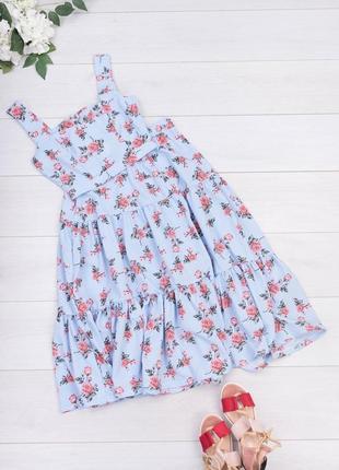 Женский летний юбочный цветочный костюм топ юбка