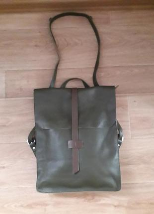 Рюкзак сумка кожа на молнии