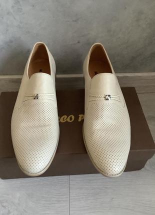 Мужские кожаные туфли marco pini размер 42