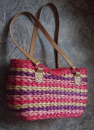 Пляжная соломенная плетенная сумка из германии