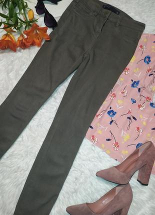 Базовые джинсы  лосины леггинсы цвета хаки