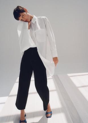Укорочённые джинсы wide-leg от zara
