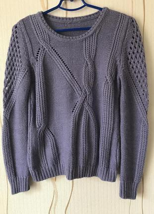 Тёплый сиреневый свитер