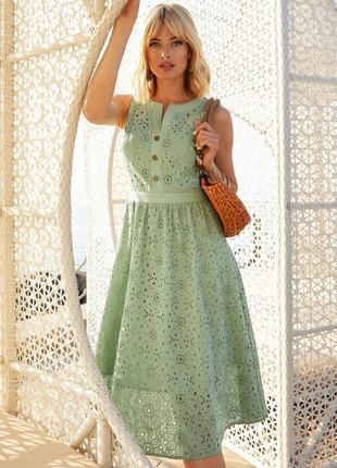 Разные цвета! шикарное платье из прошвы натуральное из хлопка прошва хлопок 100%