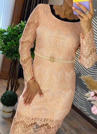 Женское нарядное кружевное платье