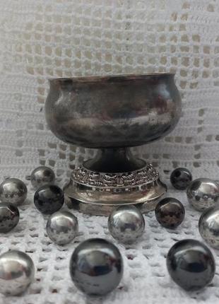 Винтажный роуз - боул , металл , серебрение