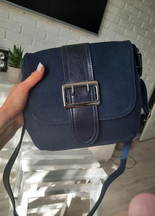 Красивая сумка, натуральная замша+кожа