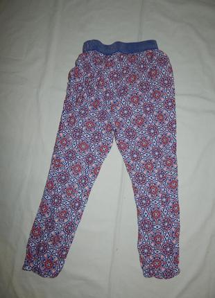 Штаны модные легкие вискоза на резинке на 8 лет