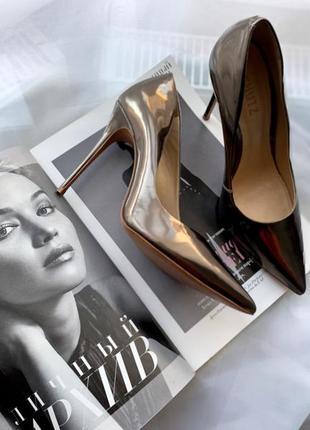 Schutz туфли лакированный металлик