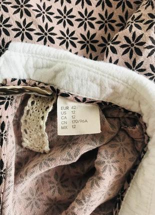 Нюдовое платье с воротничком, принт8 фото