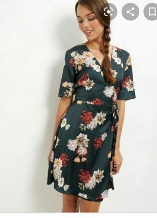 Стильное платье на запах, new look, размер 10-12