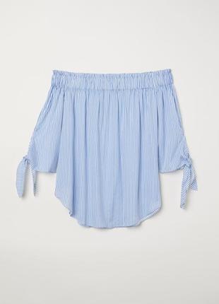 Новая хлопковая блуза h&m. размер 38-40