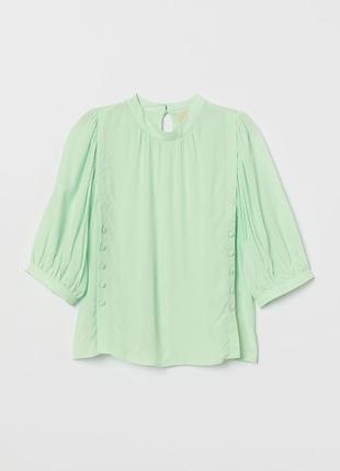 Новая блуза из натуральной ткани h&m. размер 44