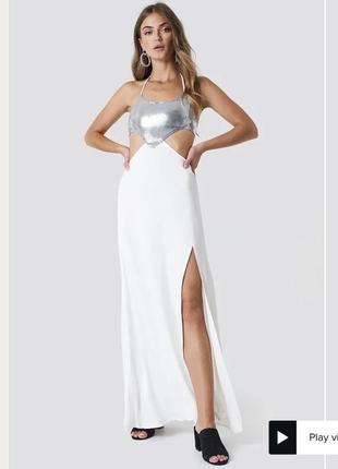 Платье в пайетки макси1 фото