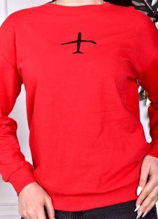 Красный батник худи толстовка с рисунком5 фото