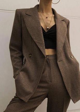 Брючный костюм , классический костюм , брюки , пиджак