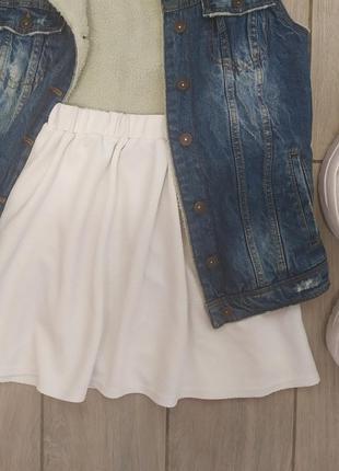 Белоснежная юбка с высокой посадкой 💙 🔝