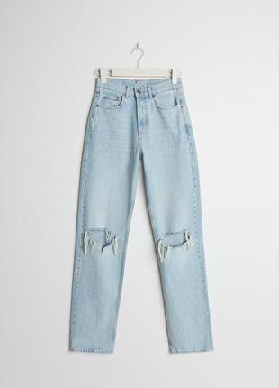 💯% котон крутые джинсы мом mom бойфренд трубы сигаретки высокая талия посадка