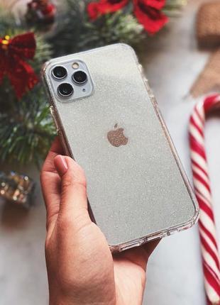Прозорий чохол з шимером crystal сase for iphone