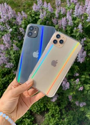 Прозорий чохол хамелеон для iphone