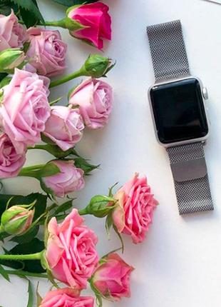 Ремінець металічний для apple watch silver