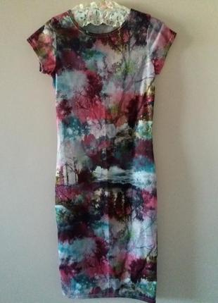 """Плаття міді """"фіолетова осінь"""""""