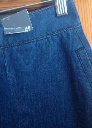 Немецкая джинсовая широкая юбка с карманами yessica 58