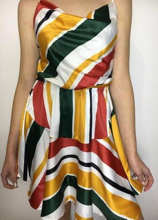 Разноцветное платье2 фото