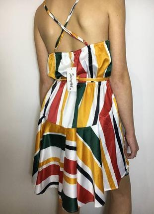 Разноцветное платье1 фото