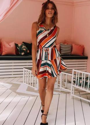 Разноцветное платье3 фото
