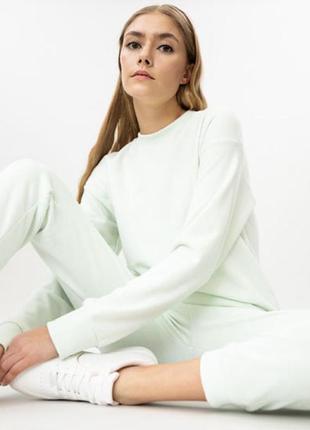 Мятний костюм lefties(zara) іспанія, 60% polyester, 40% cotton розмір m