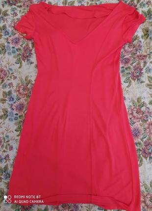 Италия яркое платье из легкого комфортного полиэстера р.44-48