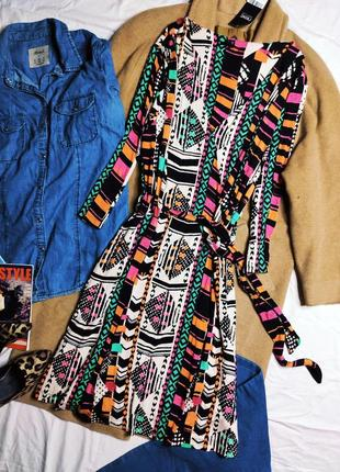 Next платье новое бежевое чёрное зелёное розовое оранжевое с поясом рукав три четверти