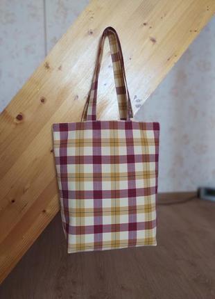 """Классная легкая сумка шоппер """"сделано руками"""""""