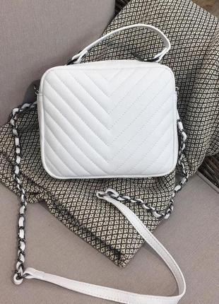 Женская кожаная сумка италия белая сумка кроссбоди