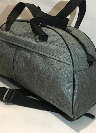 Спортивная дорожная сумка,меланжевая мумка на тренировку,в спортзал
