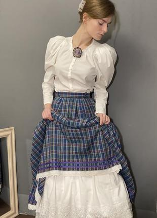 Винтажная блуза zara викторианский стиль рукава-буфы