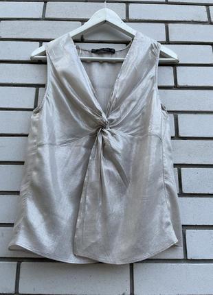 Блузка с жемчужным переливом zara