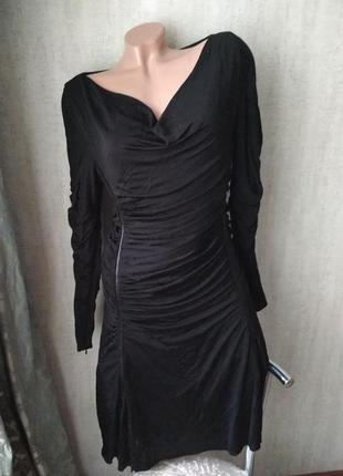 Брендовое платье черное нарядное